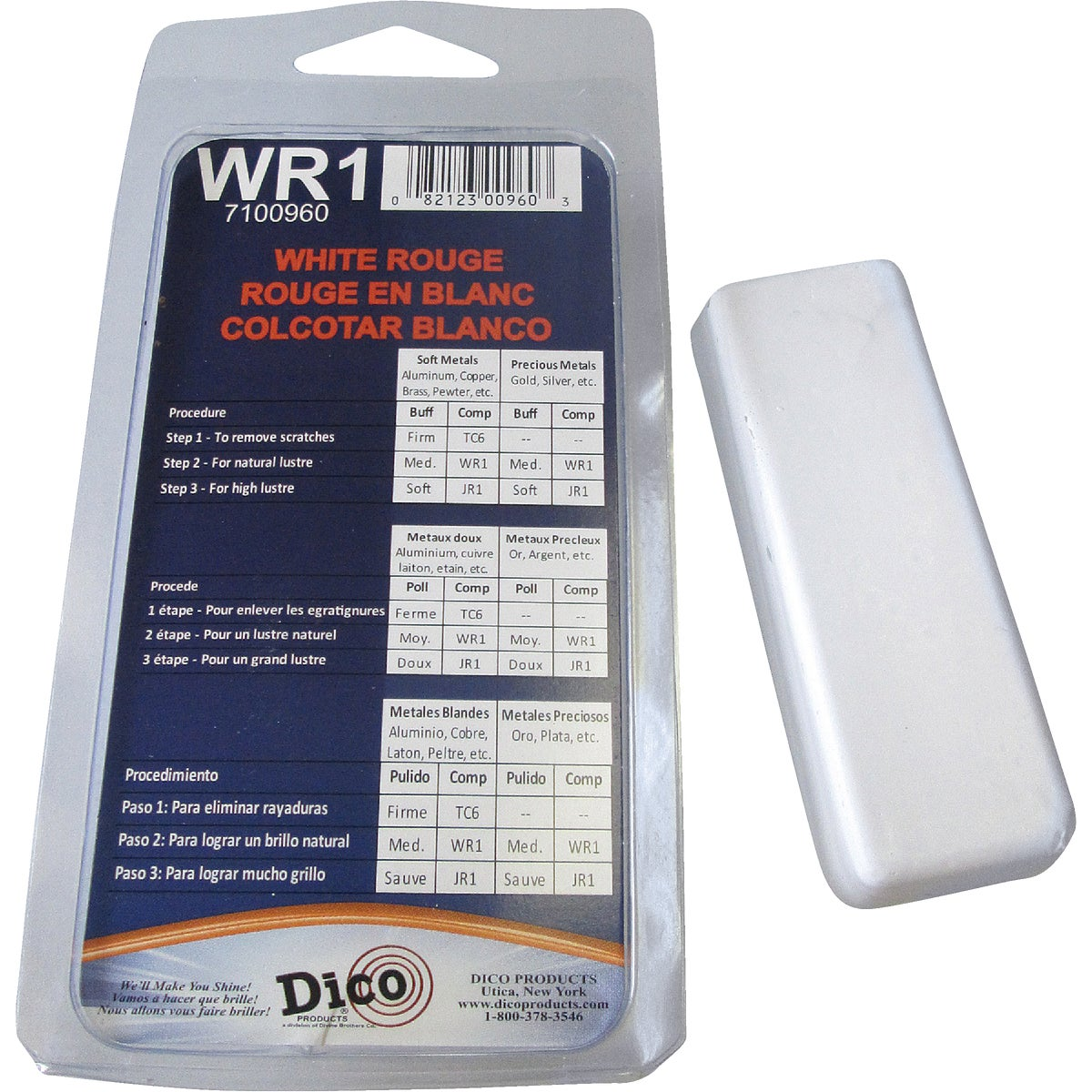 WHITERG BUFFING COMPOUND - 531WR1 by Dico Products Corp