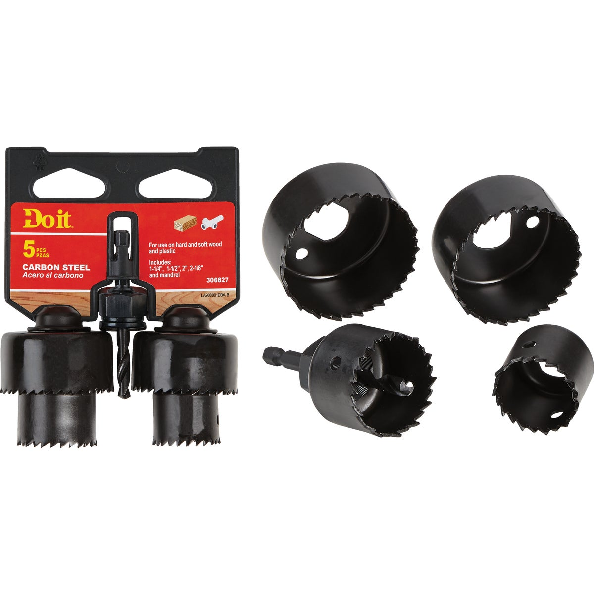5Pc Hole Saw Set