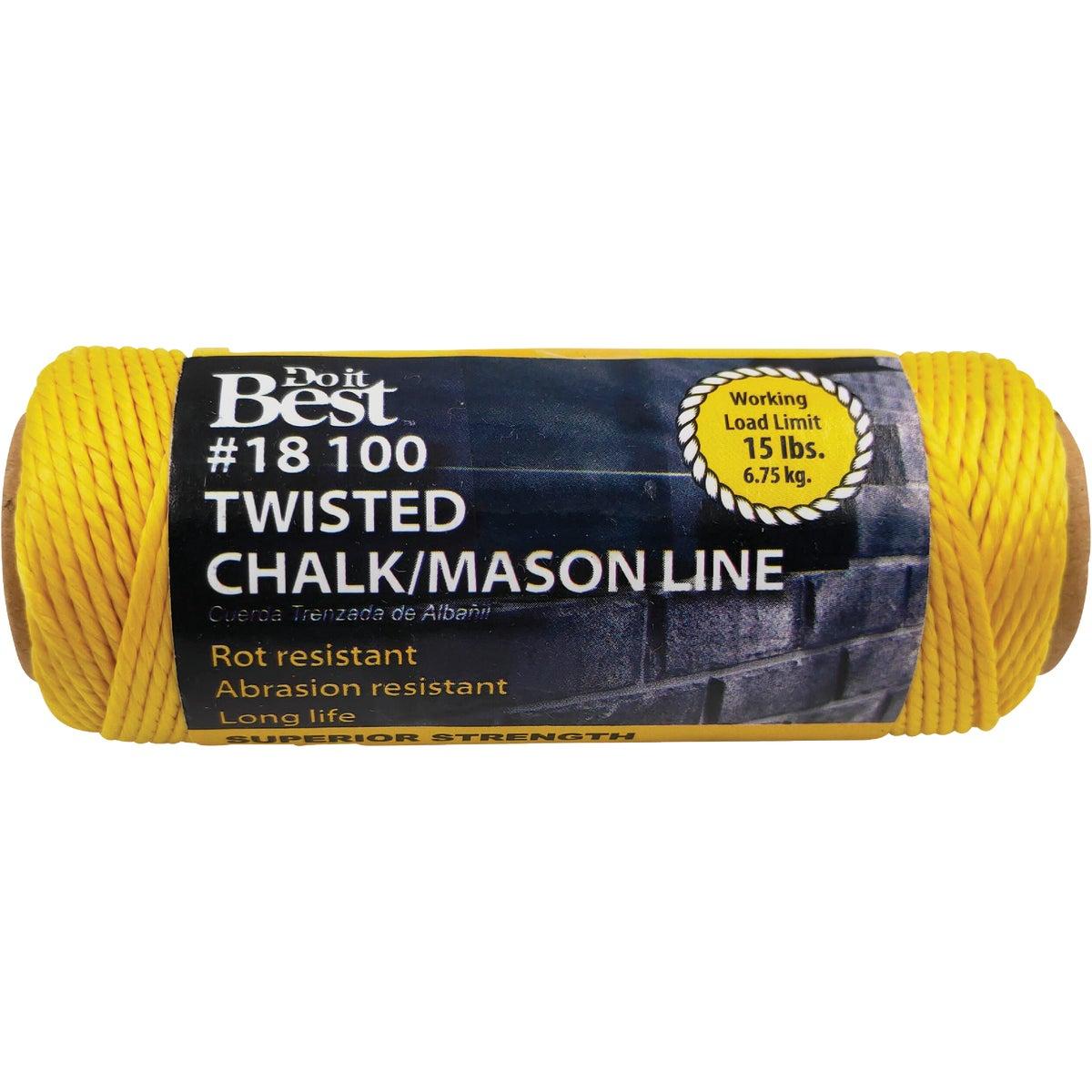 Do it 100 Ft. Fluorescent Yellow Twisted Nylon Mason Line