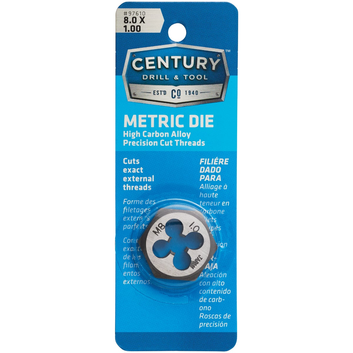 8MM-1.00 HEX DIE - 9733 by Irwin Industr Tool