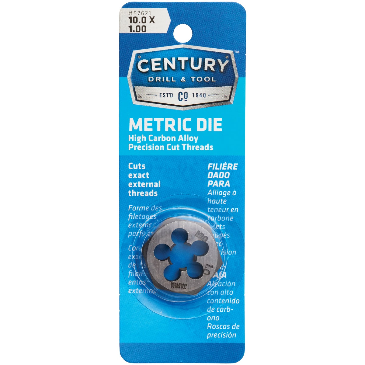 10MM-1.00 HEX DIE - 9738 by Irwin Industr Tool