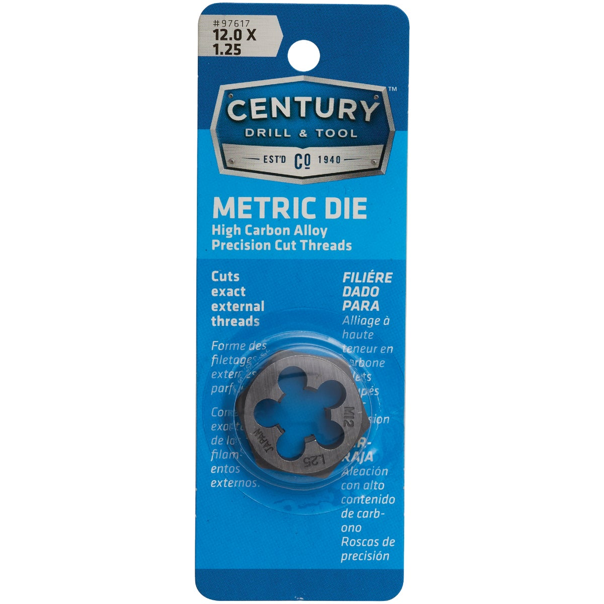12MM-1.25 HEX DIE - 9742 by Irwin Industr Tool