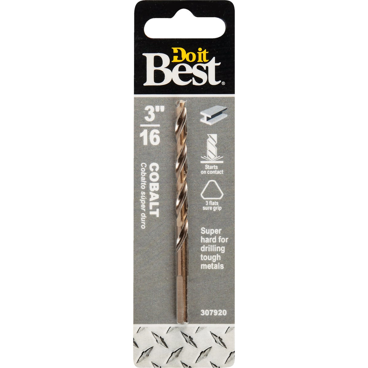 "3/16"" COBALT DRILL BIT - 249371DB by Mibro/gs"