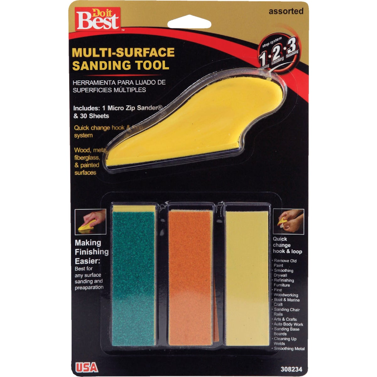 DETAIL ZIP SANDING KIT - 308234 by Ali Industries Inc