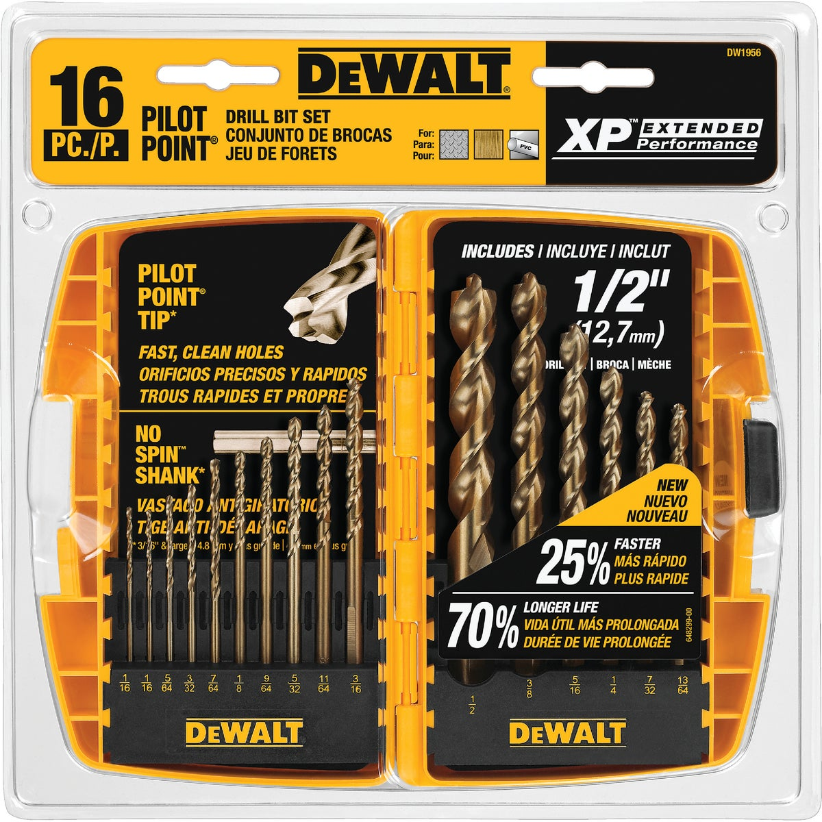 16PC DRILL BIT SET - DW1956 by DeWalt
