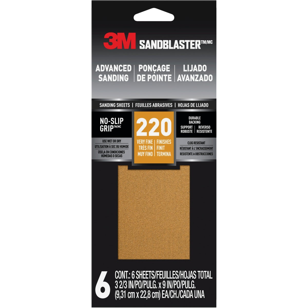 220 GRIT SANDPAPER - 11220-G by 3m Co