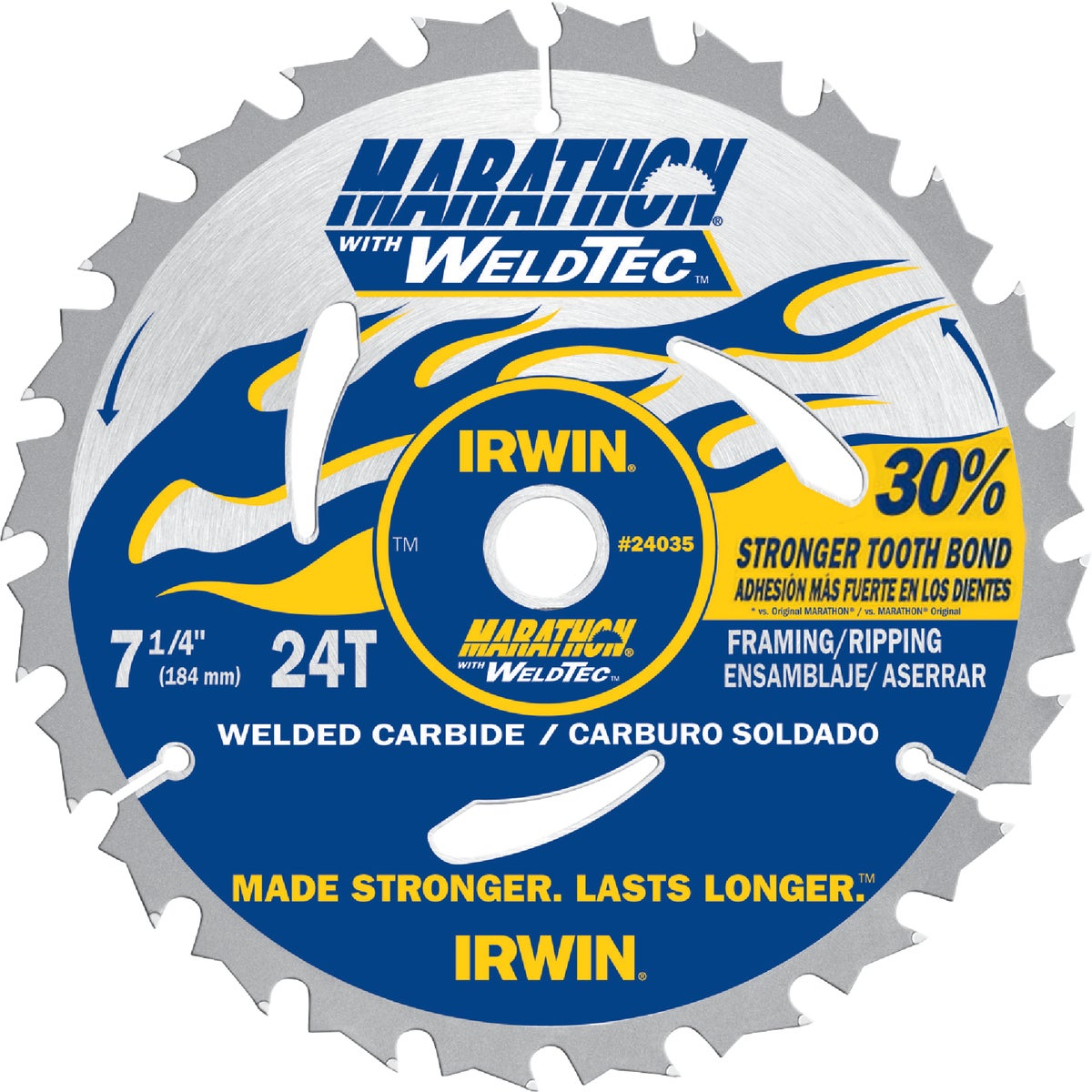"7-1/4"" MARATHON WELDTEC - 24035 by Irwin Industr Tool"