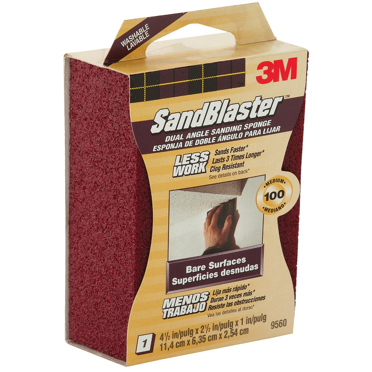100G ANGLD SANDNG SPONGE - 9560 by 3m Co