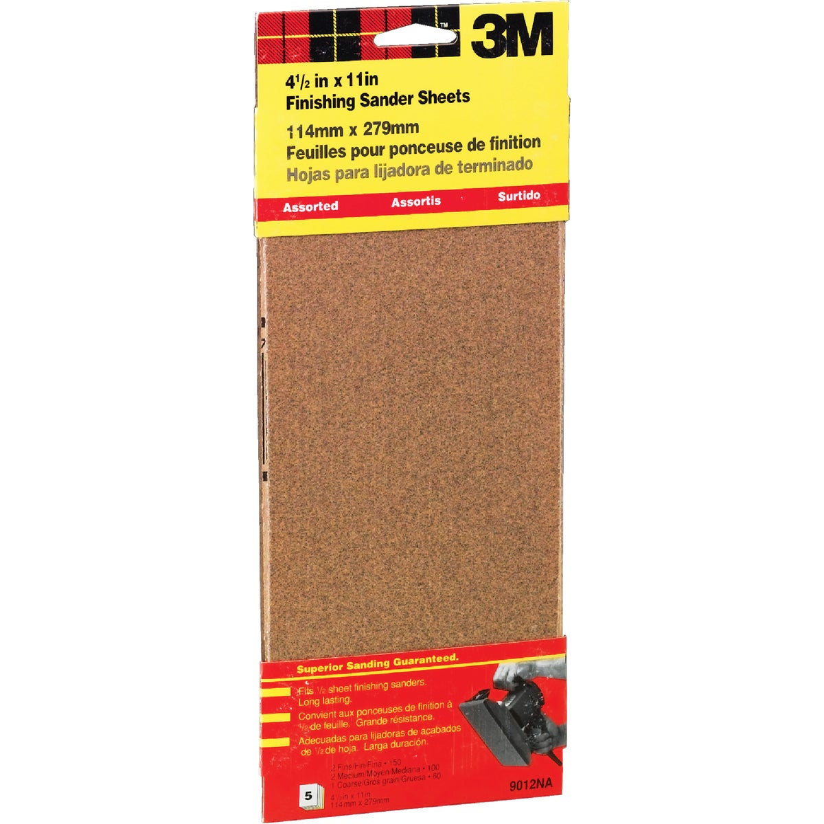 ASST 1/2SHT SANDPAPER - 9012 by 3m Co