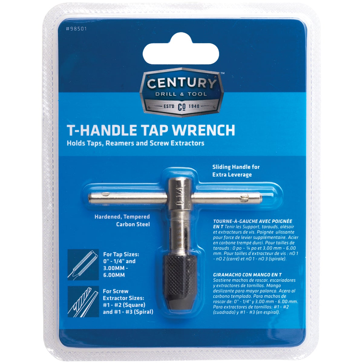 Irwin Hanson 0 - 1/4 In. T-Handle Tap Wrench