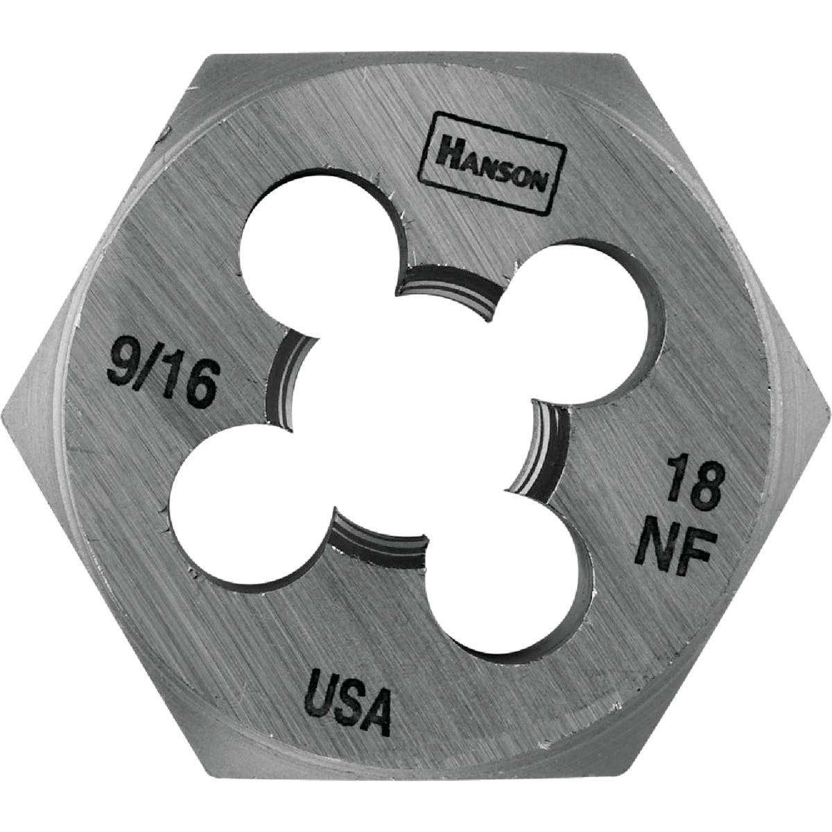 9/16X18 NF HEX DIE