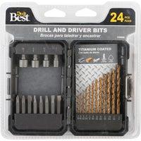 24Pc Ti Drl/Drv Bit Set