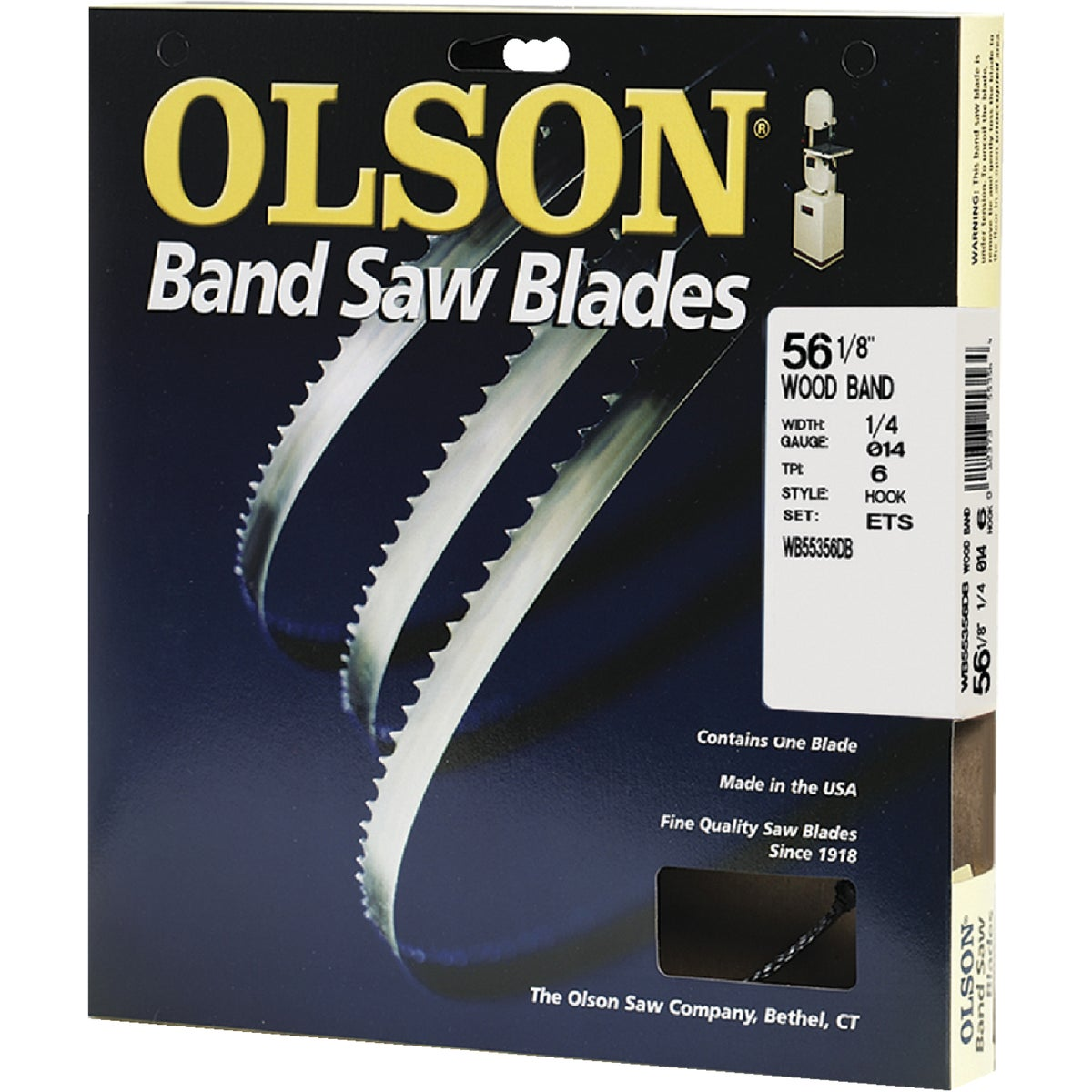 "56-1/8"" BANDSAW BLADE - 55356 by Olson Saw Co"
