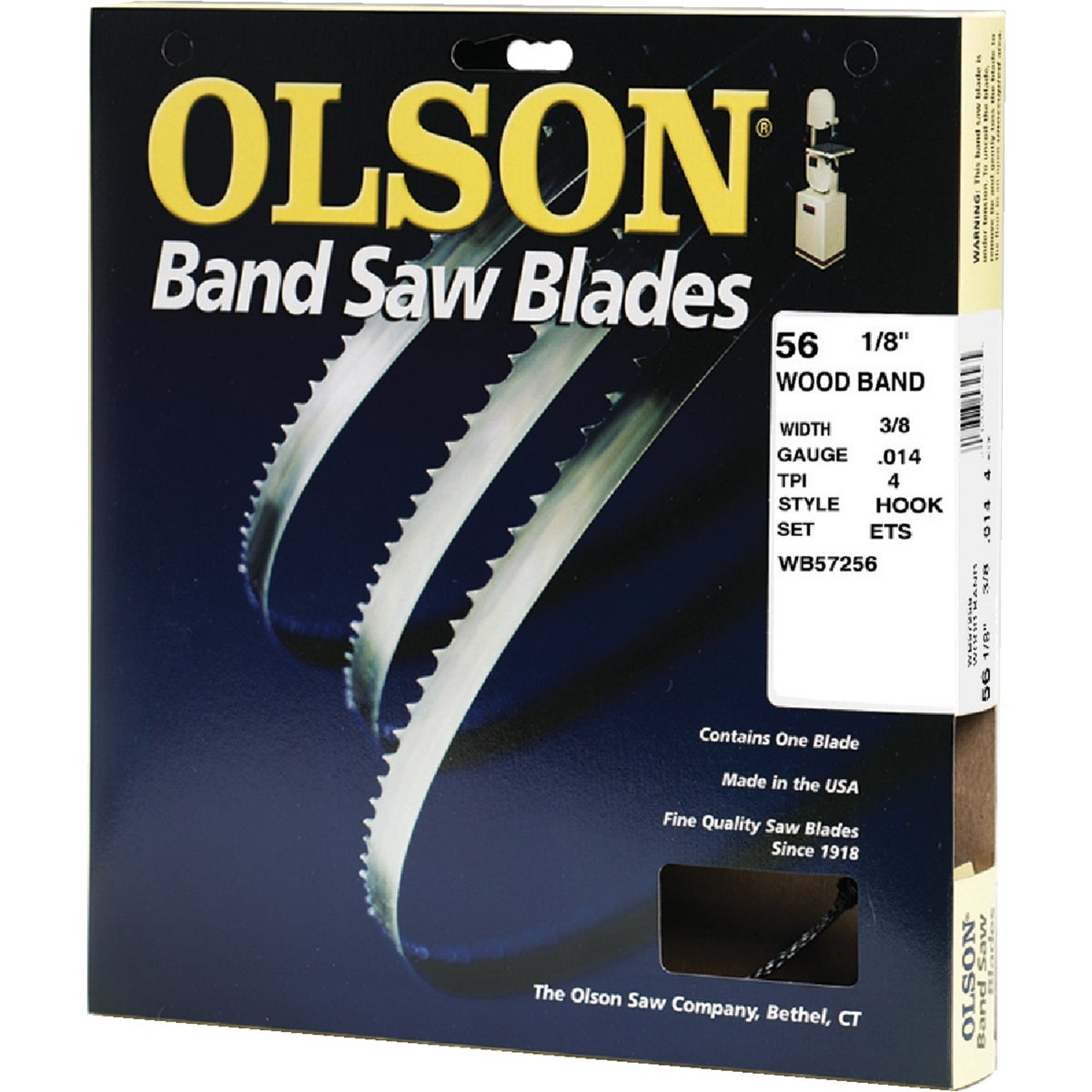 "56-1/8"" BANDSAW BLADE - 57256 by Olson Saw Co"