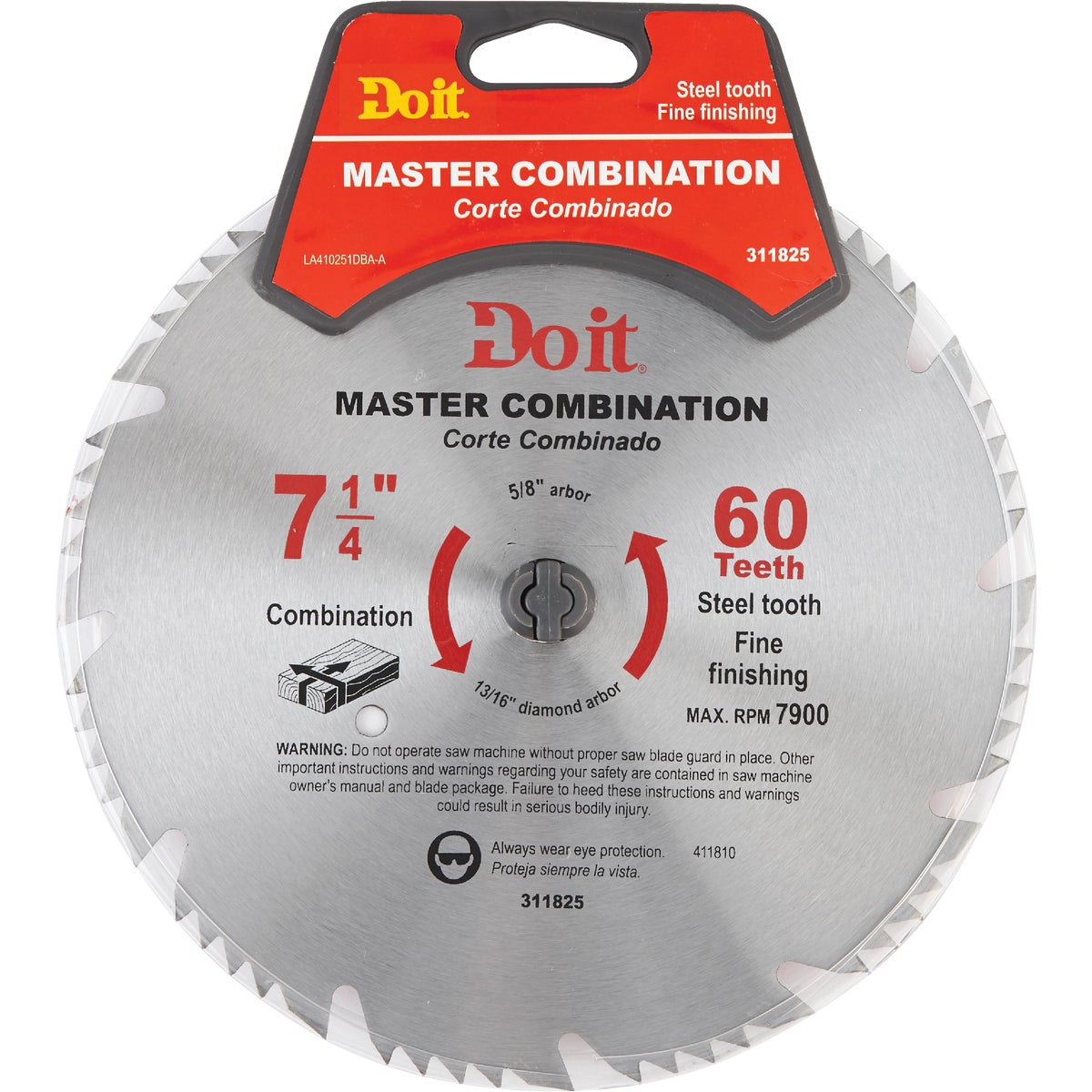 """7-1/4"""" COMBIN SAW BLADE - 410251DB by Mibro/gs"""