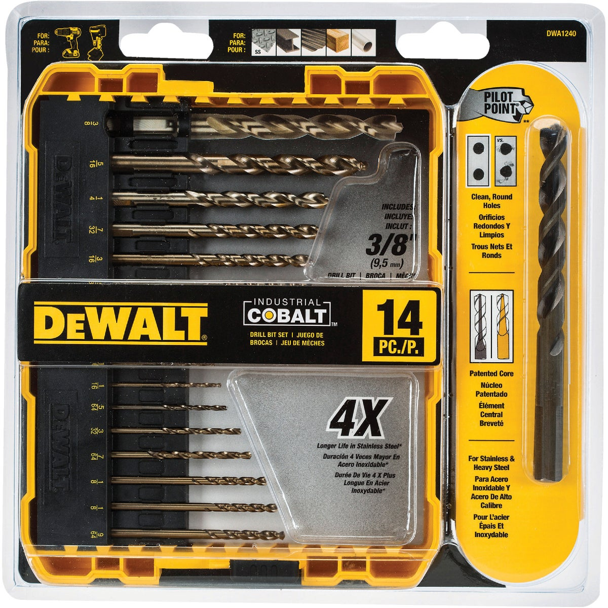 13PC COBLT DRILL BIT SET - DW1263 by DeWalt