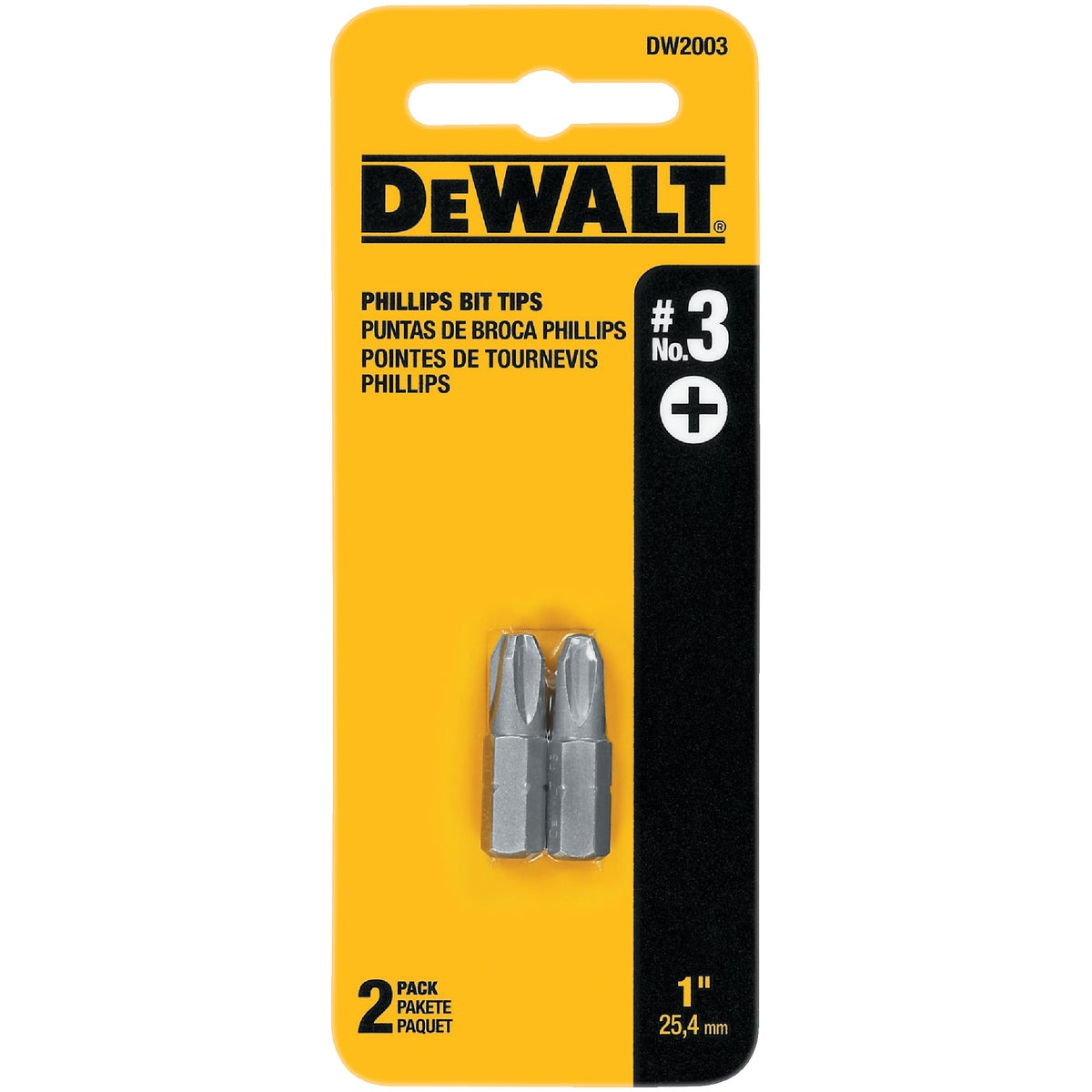 "#3 1"" PHIL INSERT BIT - DW2003 by DeWalt"