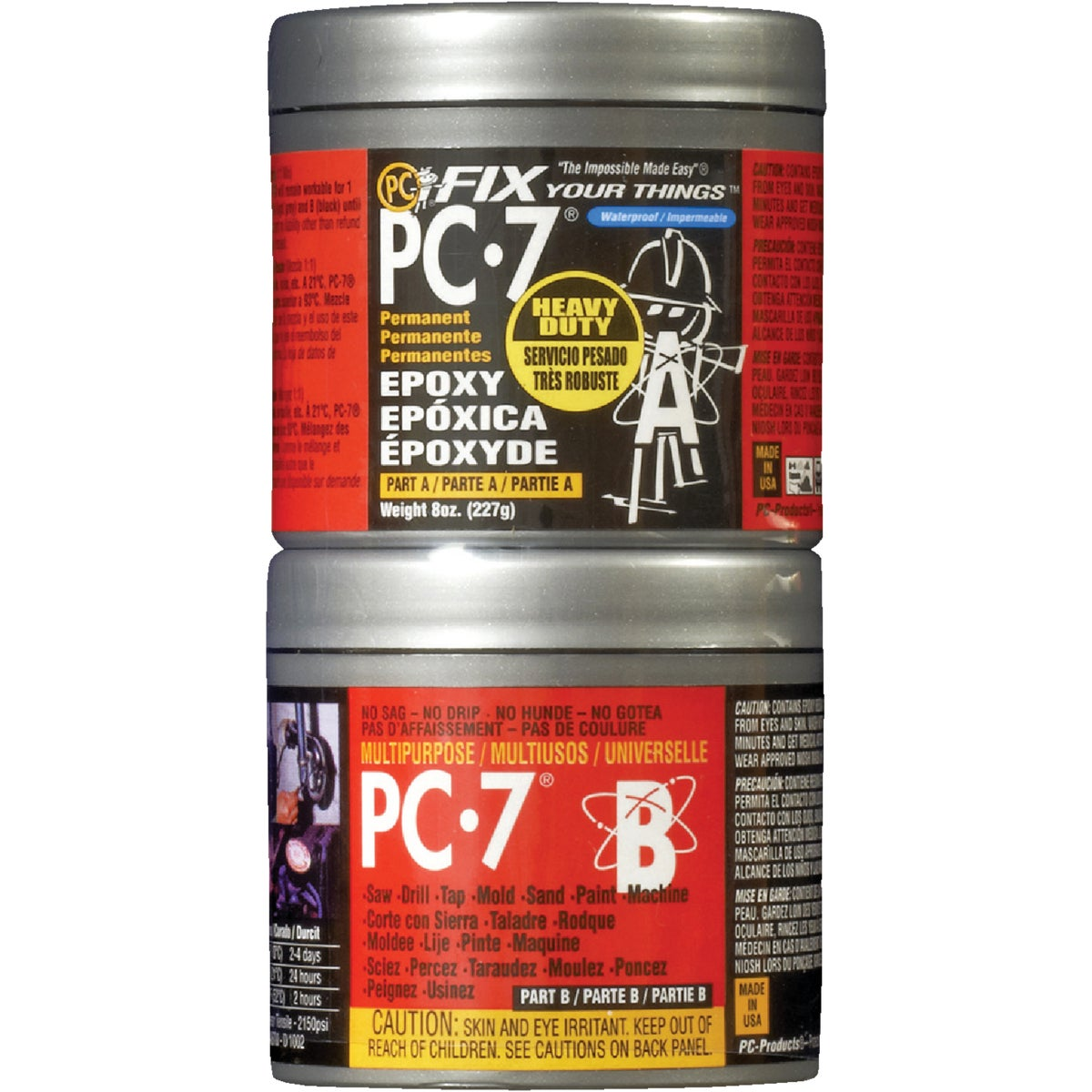 1/2LB PC-7 EPOXY PASTE - PC-7-1/2LB by Protective Coating