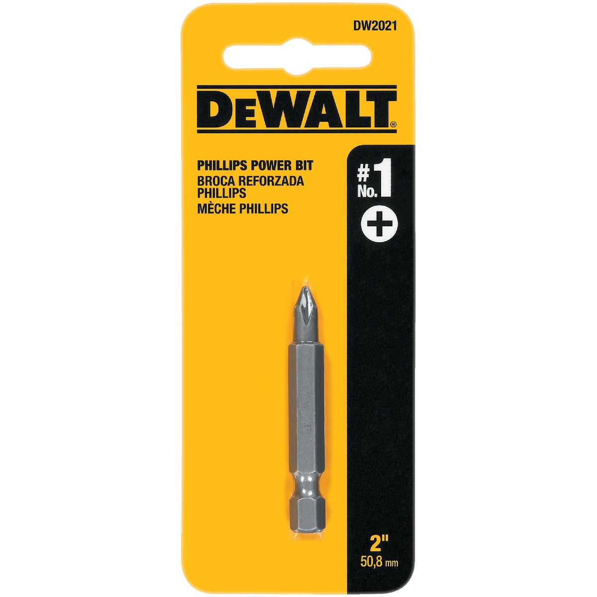 "#1 2"" PHIL POWER BIT - DW2021 by DeWalt"