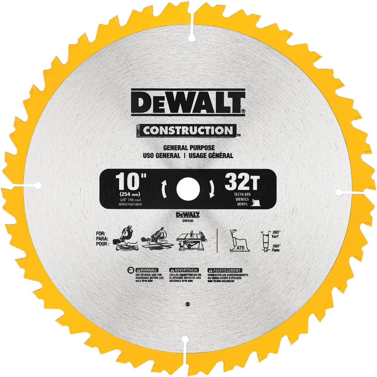 "10"" CARB BLADE - DW3103 by DeWalt"