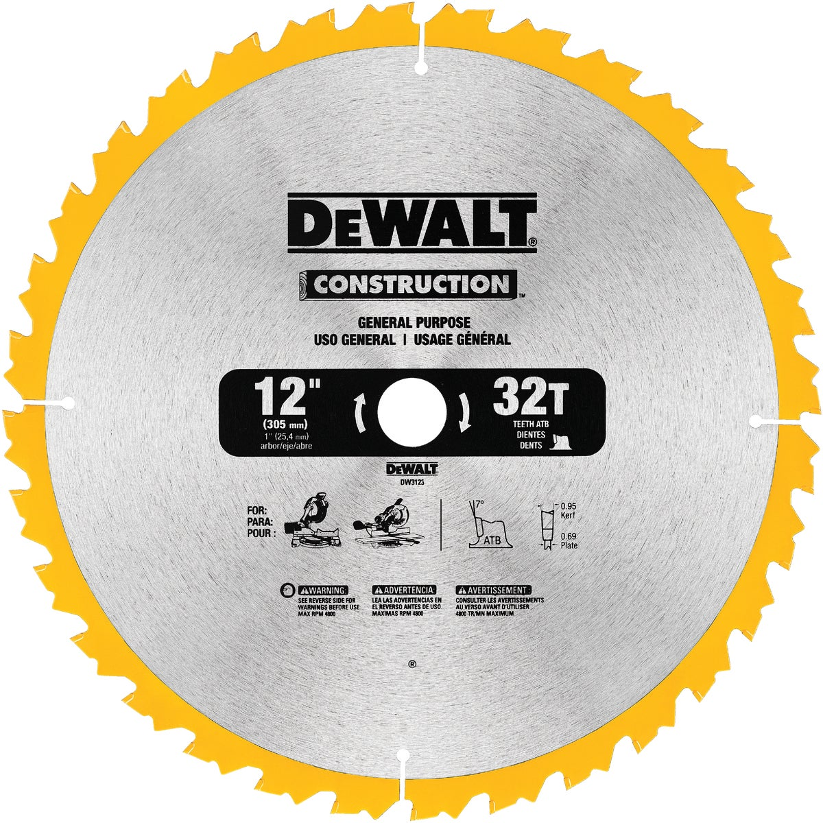 "12"" CARB BLADE - DW3123 by DeWalt"