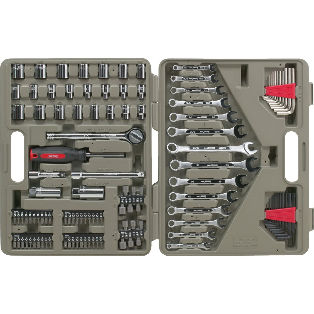 Cooper Tools CRESCENT 128PC TOOL SET CTK128MPR