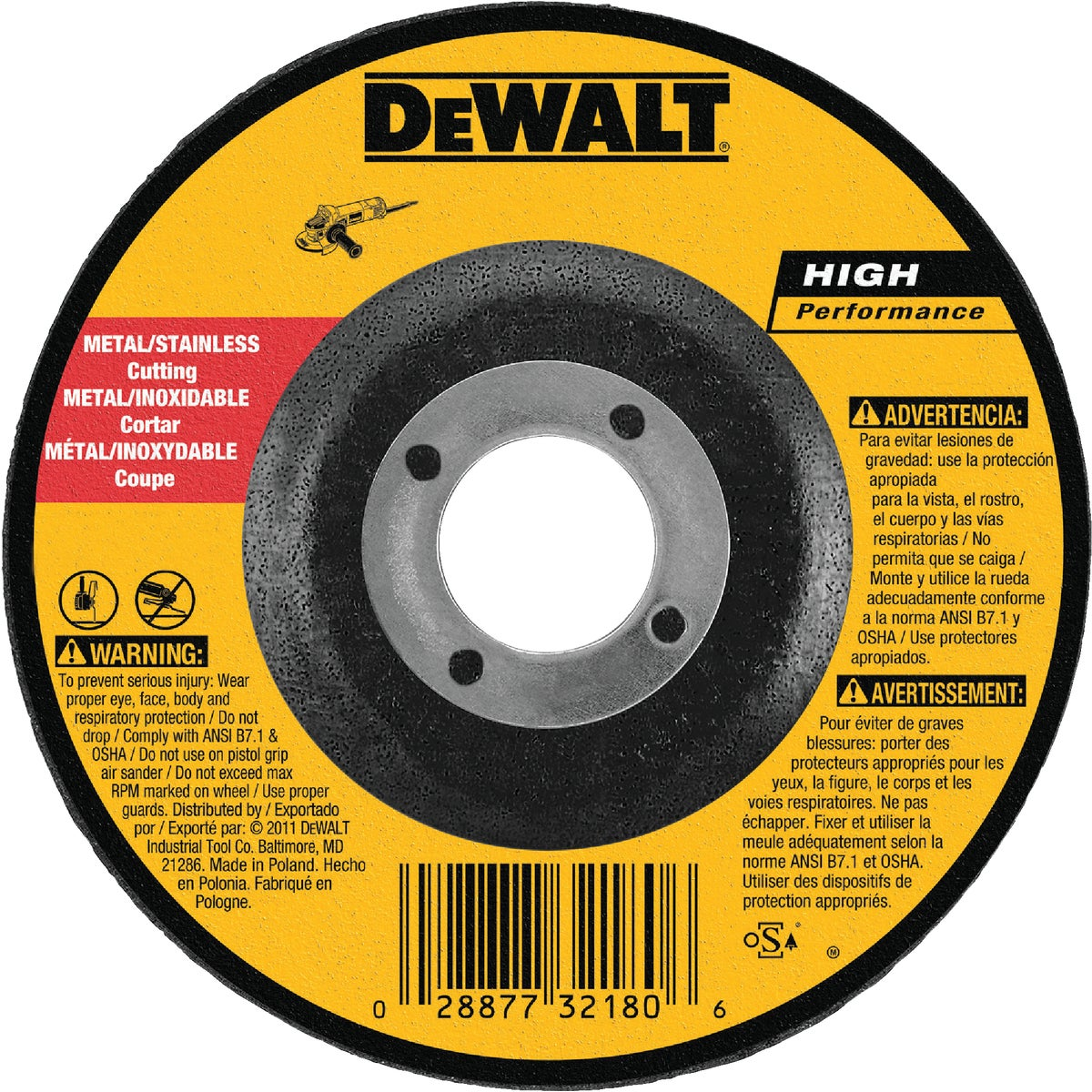 "5"" GRINDING WHEEL - DW8425 by DeWalt"