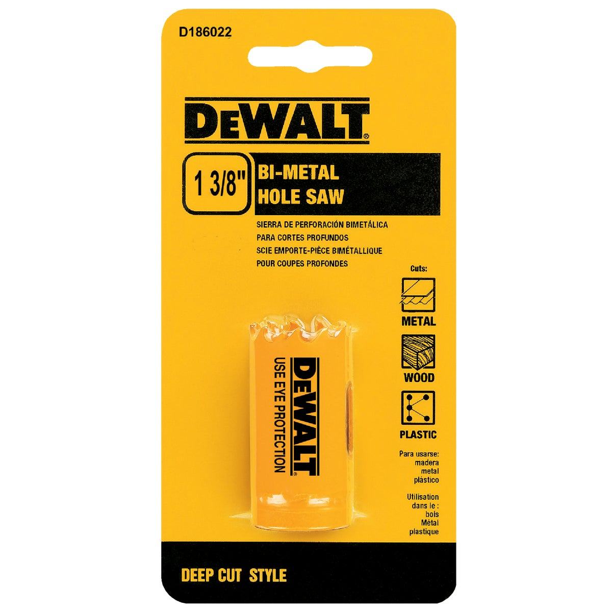 "1-3/8"" HOLE SAW - D180022 by DeWalt"