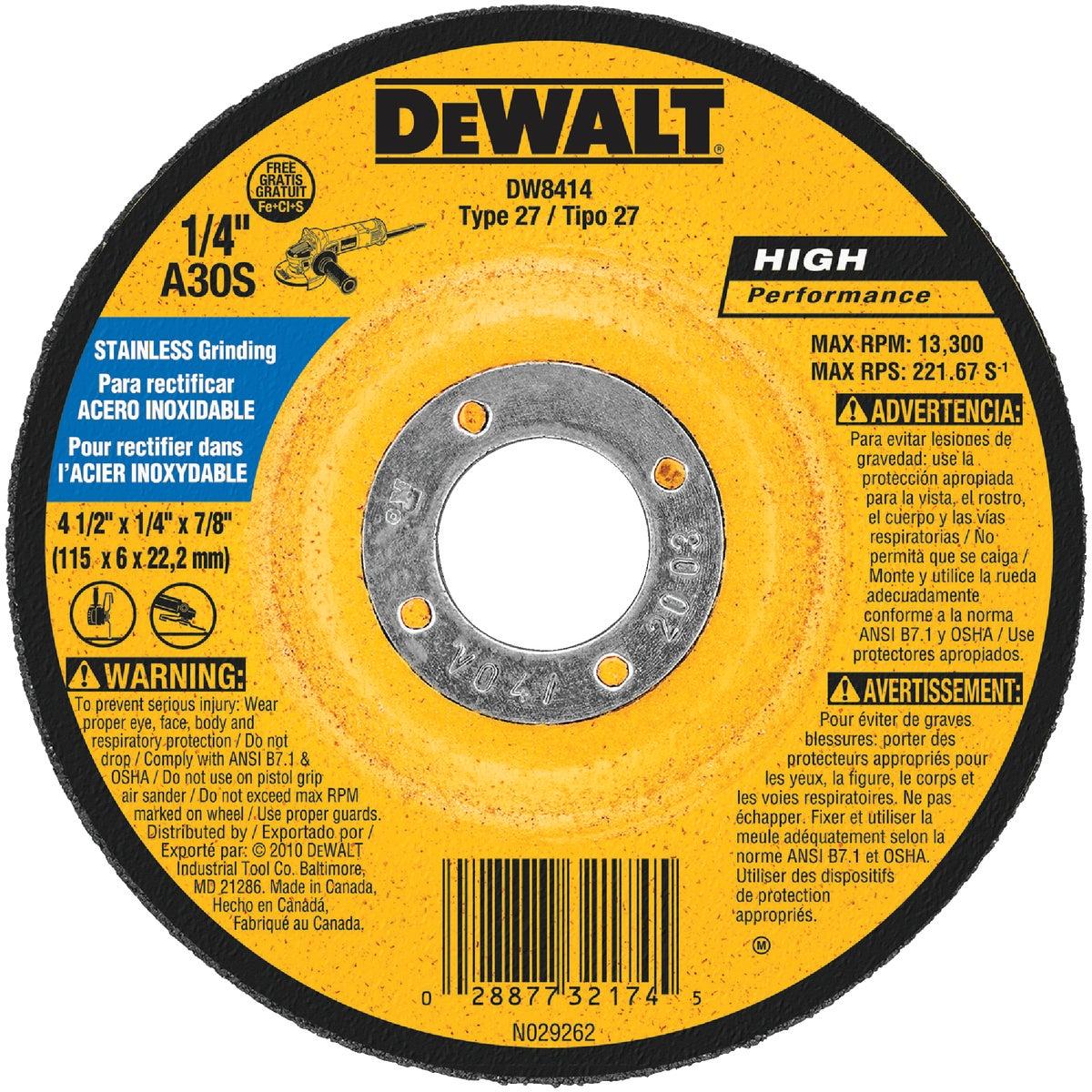 """4-1/2"""" GRINDING WHEEL - DW8414 by DeWalt"""
