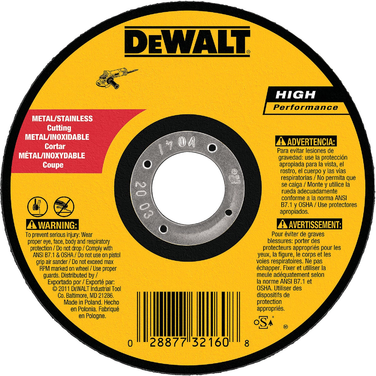"5"" 60G CUTOFF WHEEL - DW8063 by DeWalt"