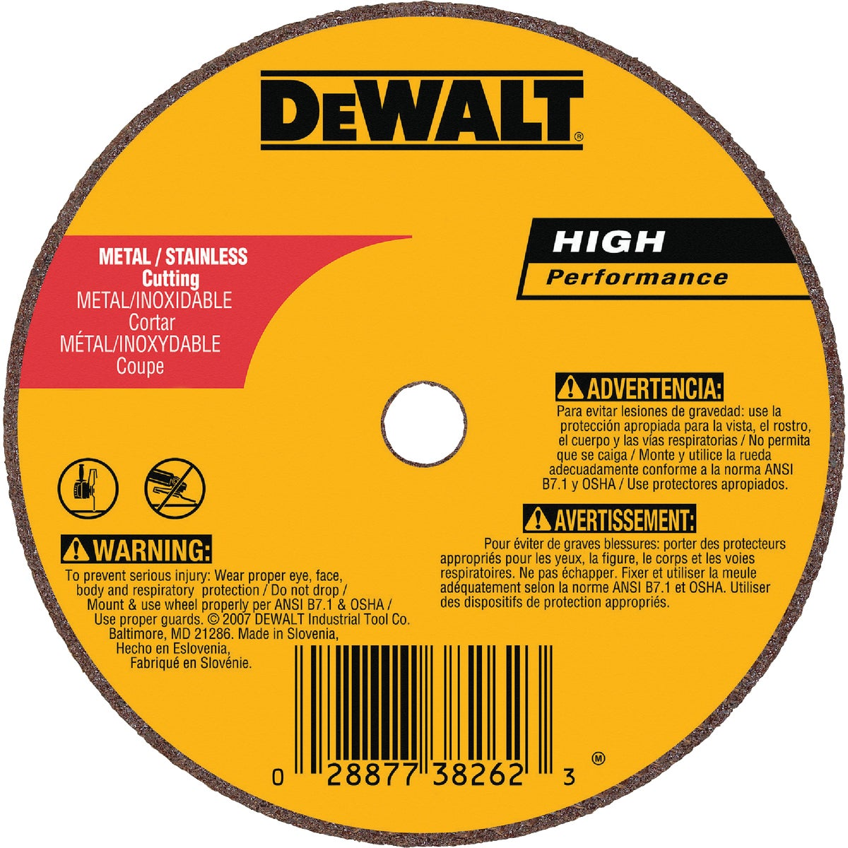 "4"" 36G CUTOFF WHEEL - DW8716 by DeWalt"