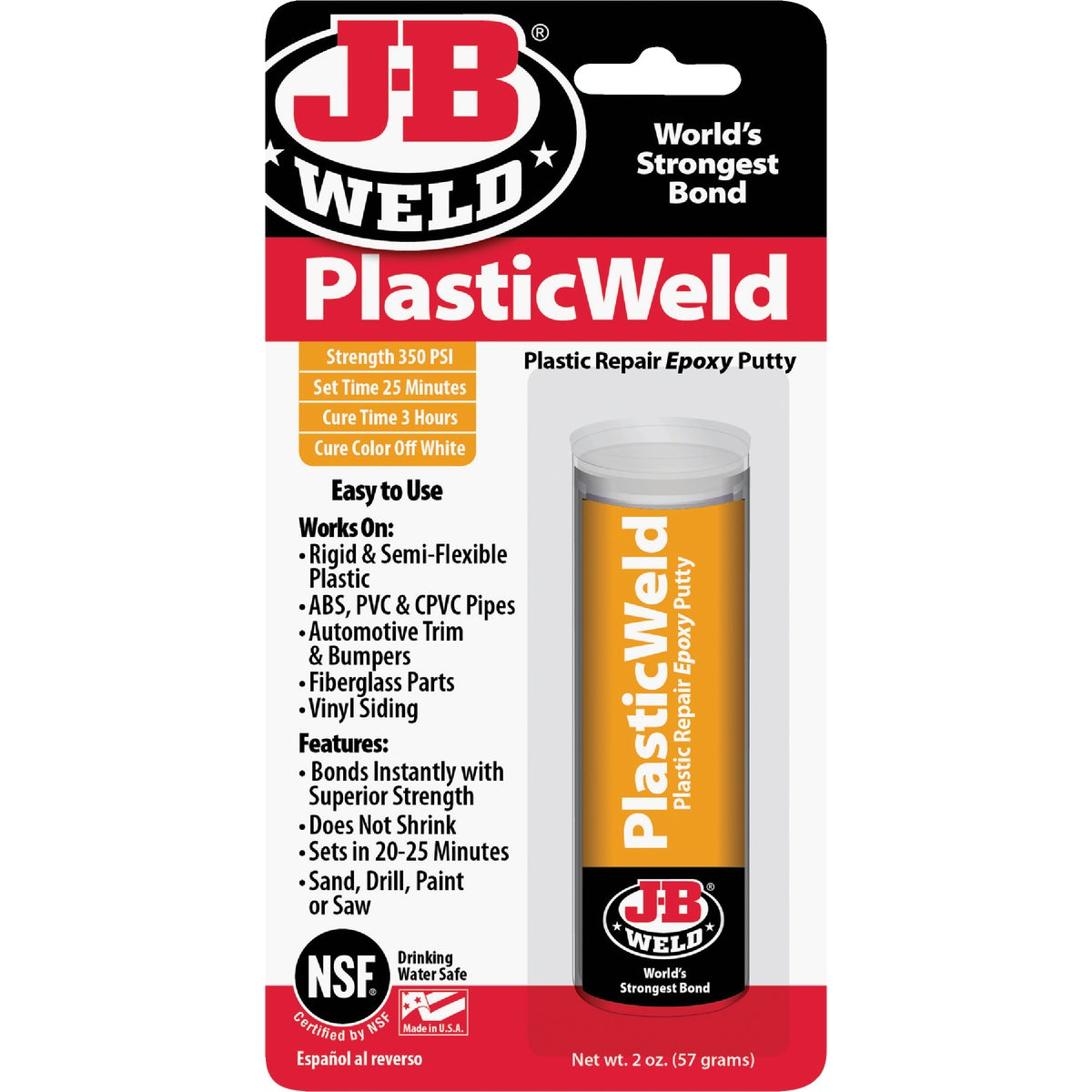 2OZ KWIKPLASTIC EPOXY - 8237 by J B Weld Co
