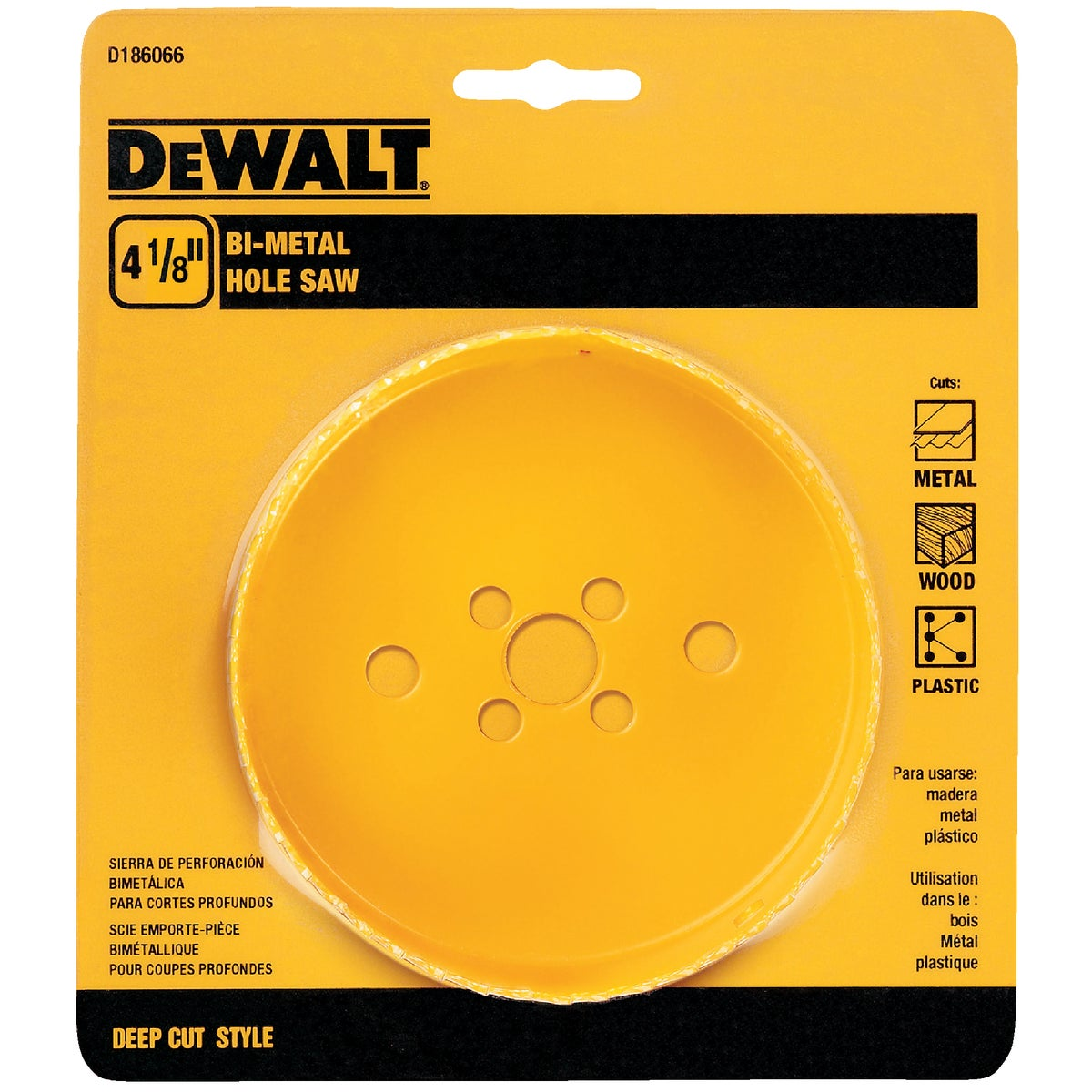 "4-1/8"" HOLE SAW - D180066 by DeWalt"