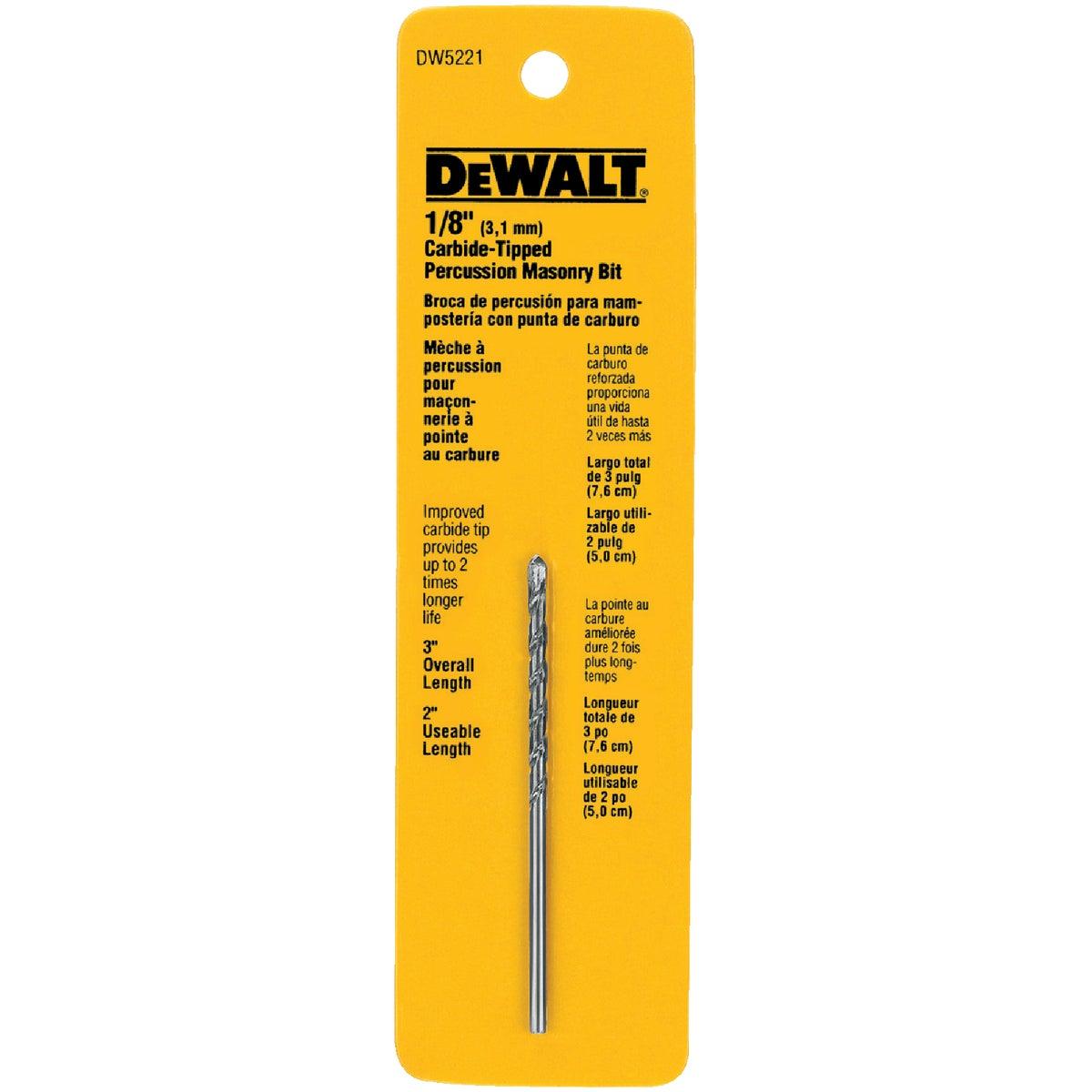 1/8X3 MASONRY DRILL BIT - DW5221 by DeWalt
