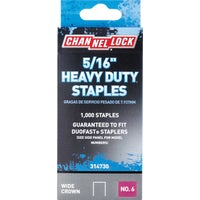 Channellock No. 6 Heavy-Duty Wide Crown Staple, 314730