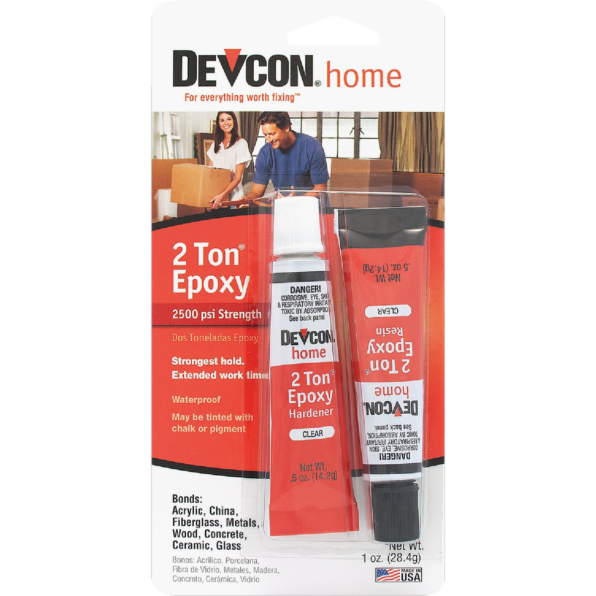 ITW Consumer/ Devcon 1OZ CLR 2-TON EPOXY S-35