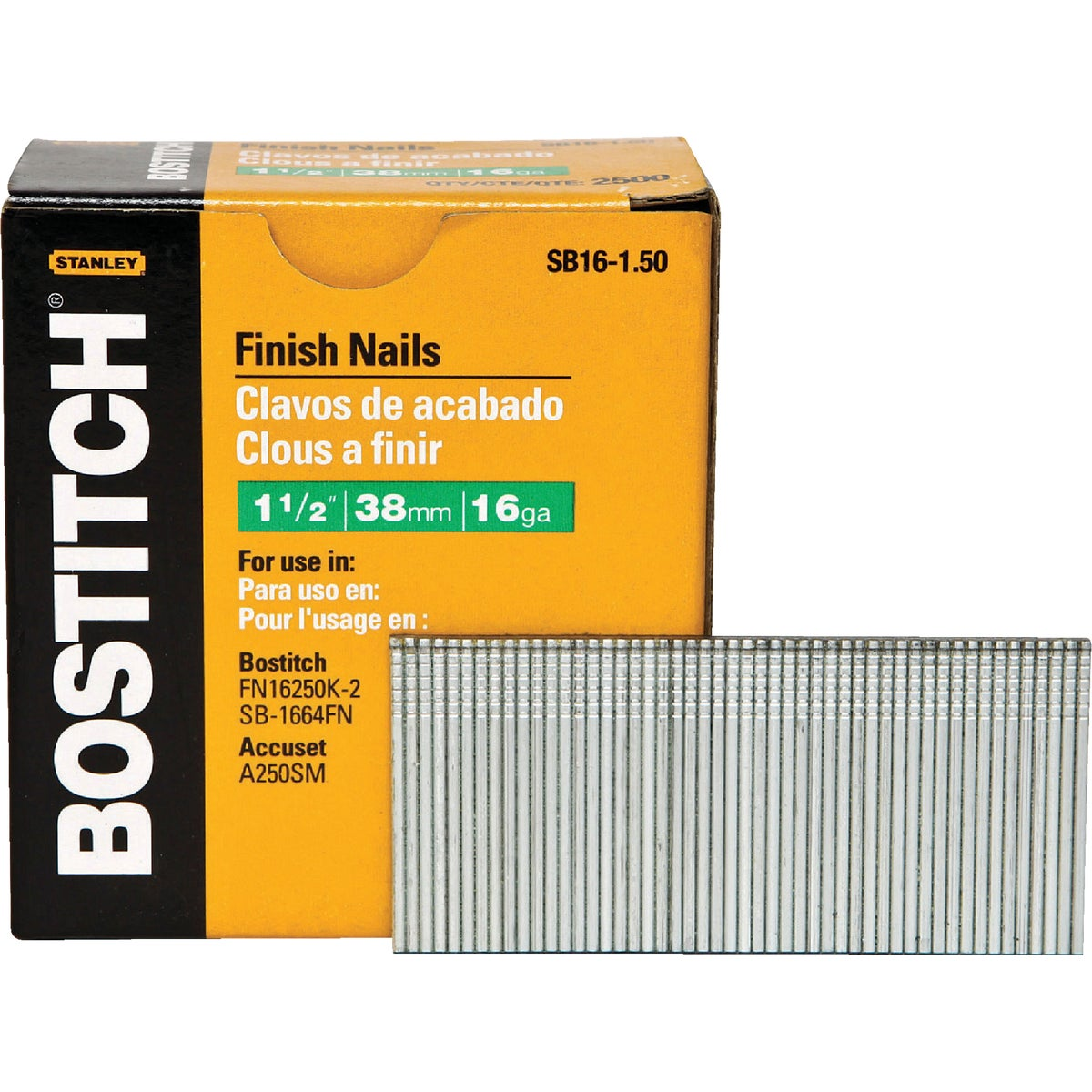 "1-1/2"" 16GA FINISH NAIL - SB16-1.50 by Stanley Bostitch"