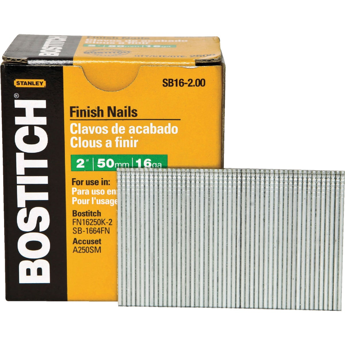 "2"" 16GA FINISH NAIL - SB16-2.00 by Stanley Bostitch"