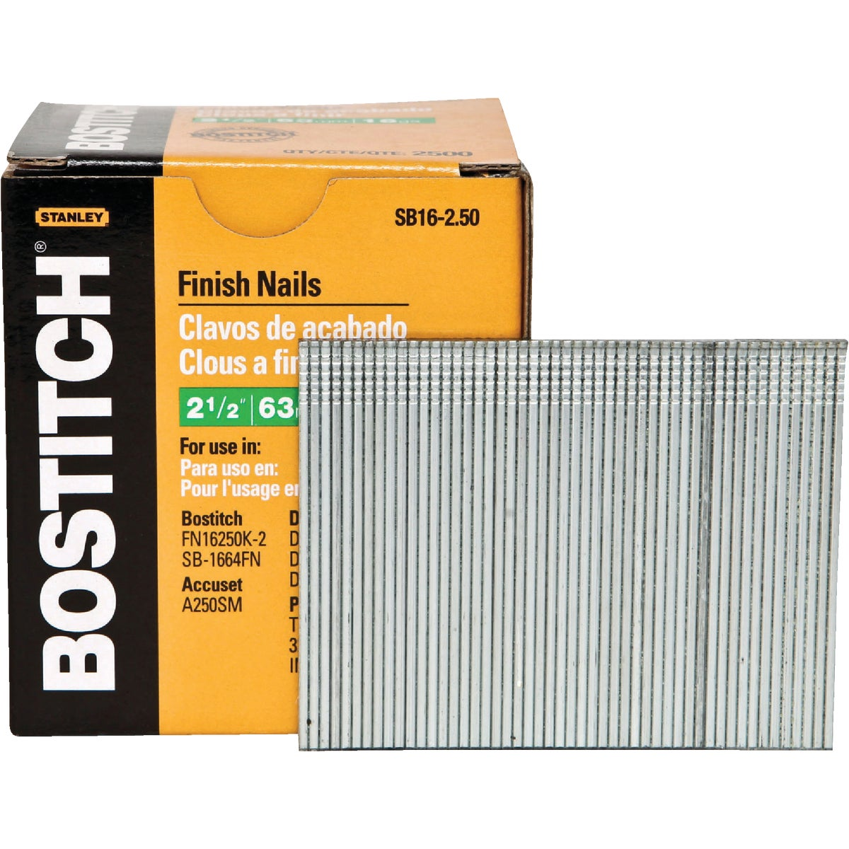 "2-1/2"" 16GA FINISH NAIL - SB16-2.50 by Stanley Bostitch"