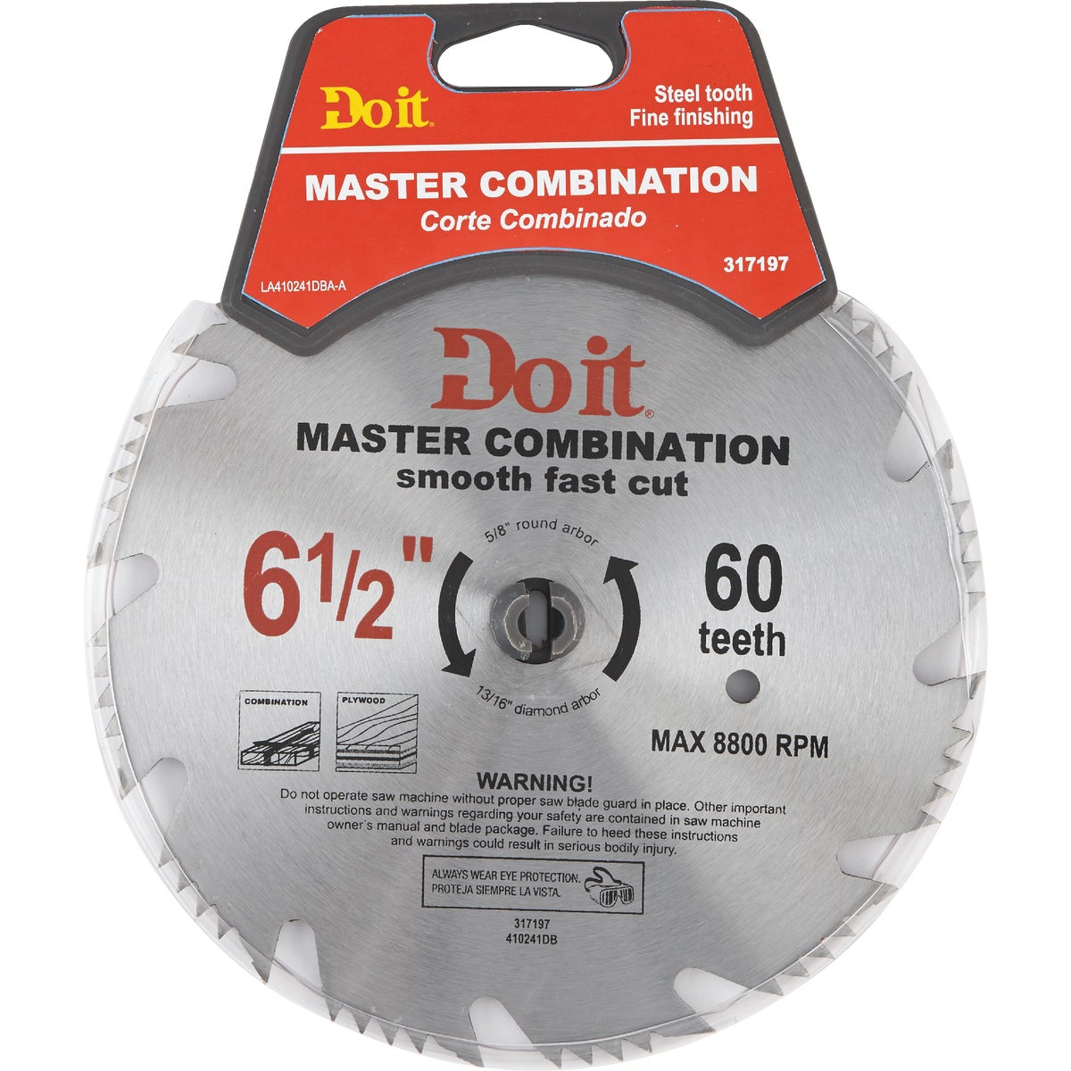 "6-1/2"" COMBIN SAW BLADE - 410241DB by Mibro/gs"