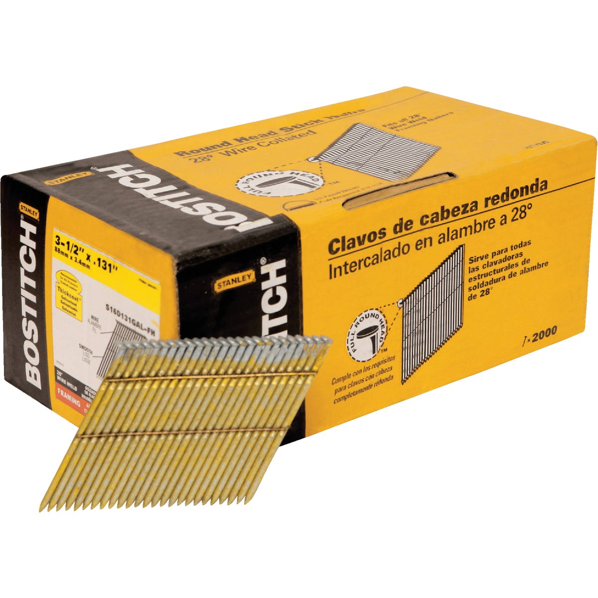 "3-1/2"" FRAMING NAIL - S16D131GAL-FH by Stanley Bostitch"