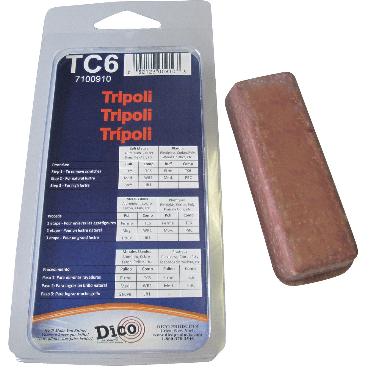 TRIPOLI BUFFING COMPOUND - 531TC-6 by Dico Products Corp