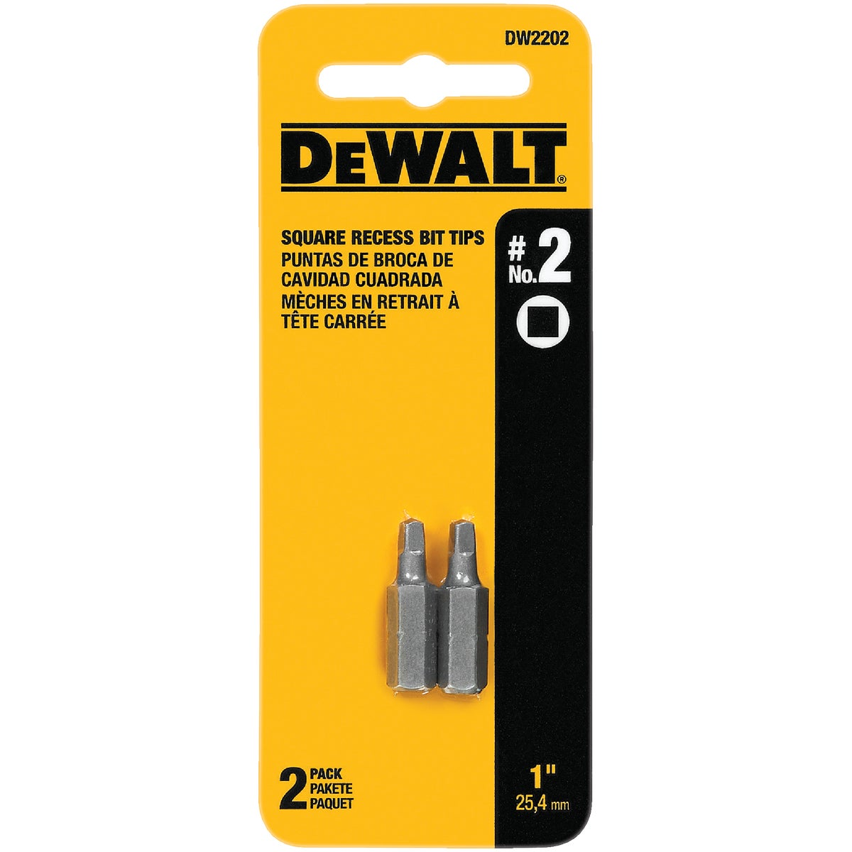 "#2 1"" SQUARE RECESS BIT - DW2202 by DeWalt"