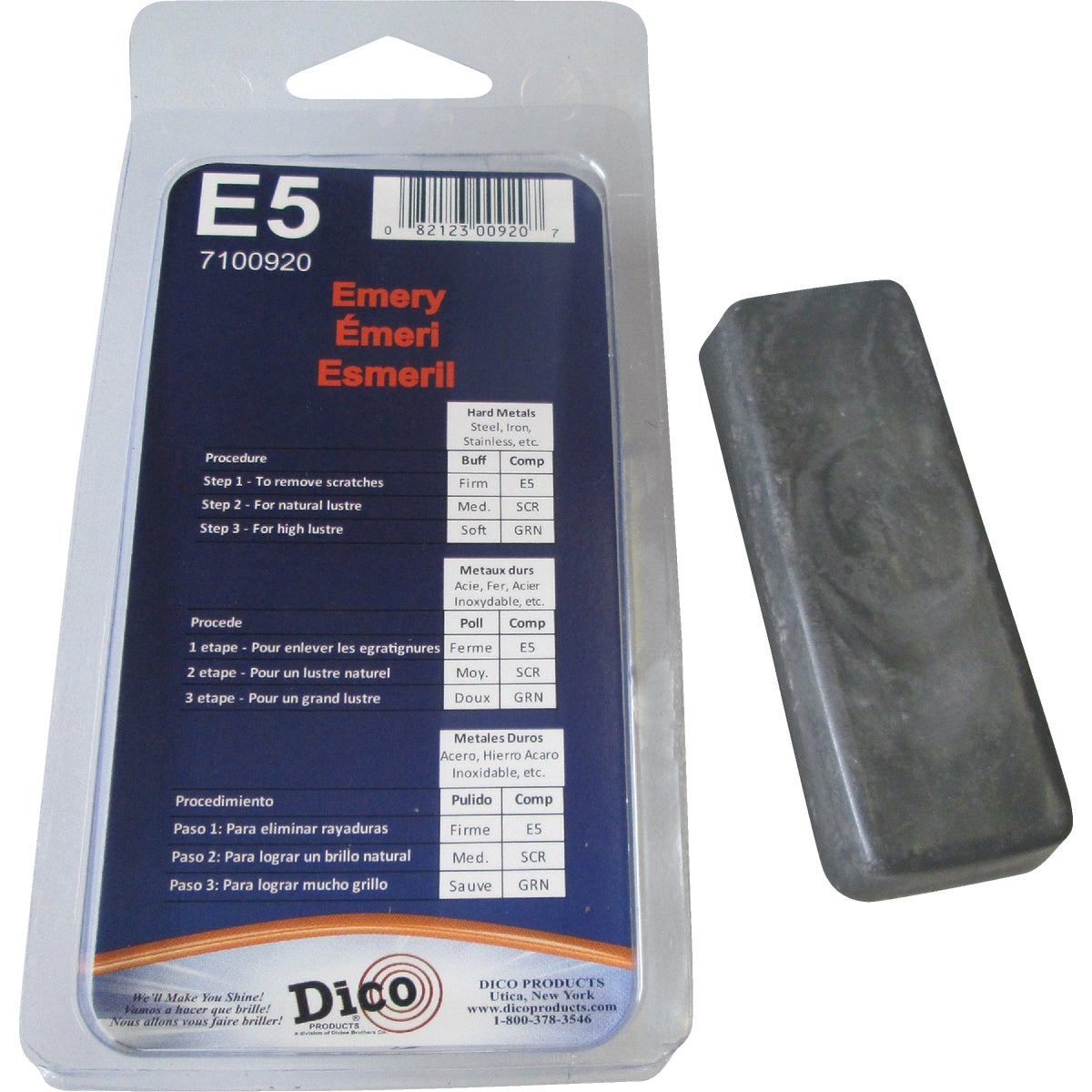 Dico Prod. Corp. EMERY BUFFING COMPOUND 53100000