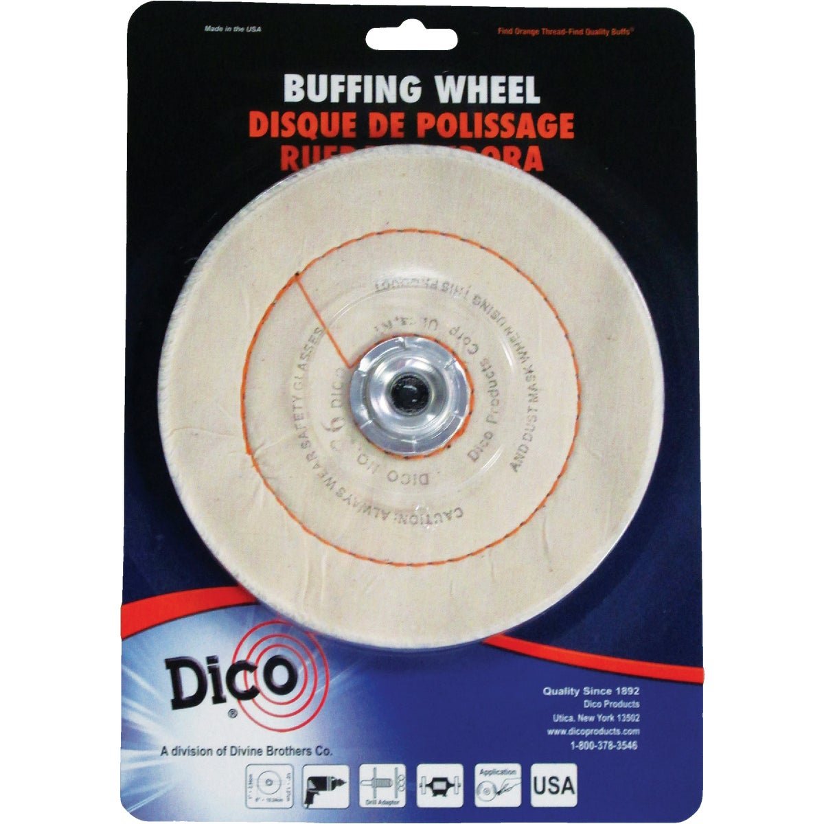 "6"" CUSHION WHEEL - 52736-6 by Dico Products Corp"