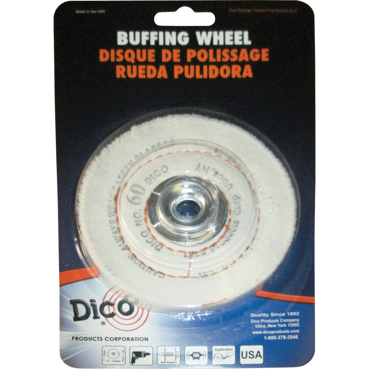 "4"" CUSHION WHEEL - 52736-4 by Dico Products Corp"