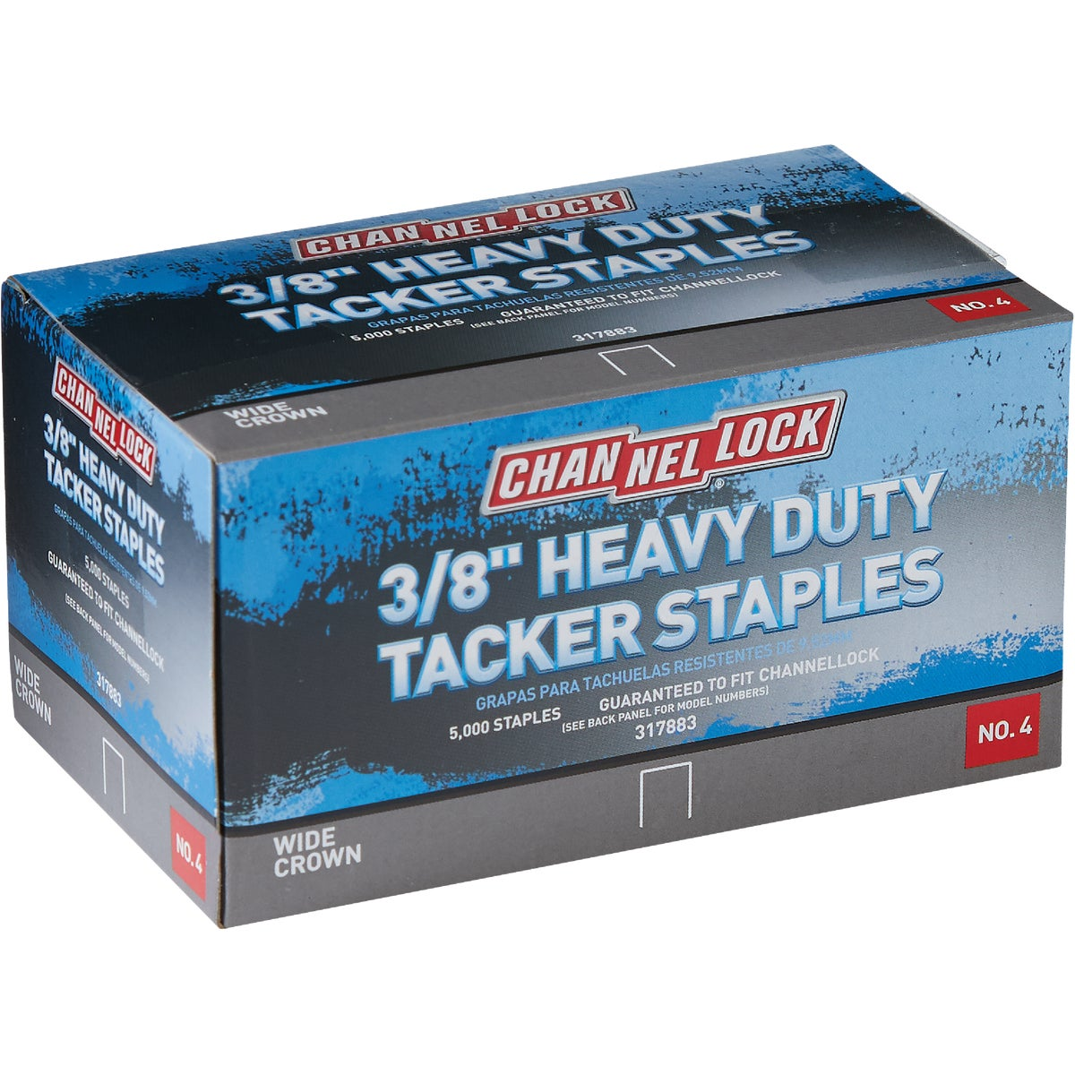 "3/8"" TACKER STAPLES - A11382 by Channellock®"