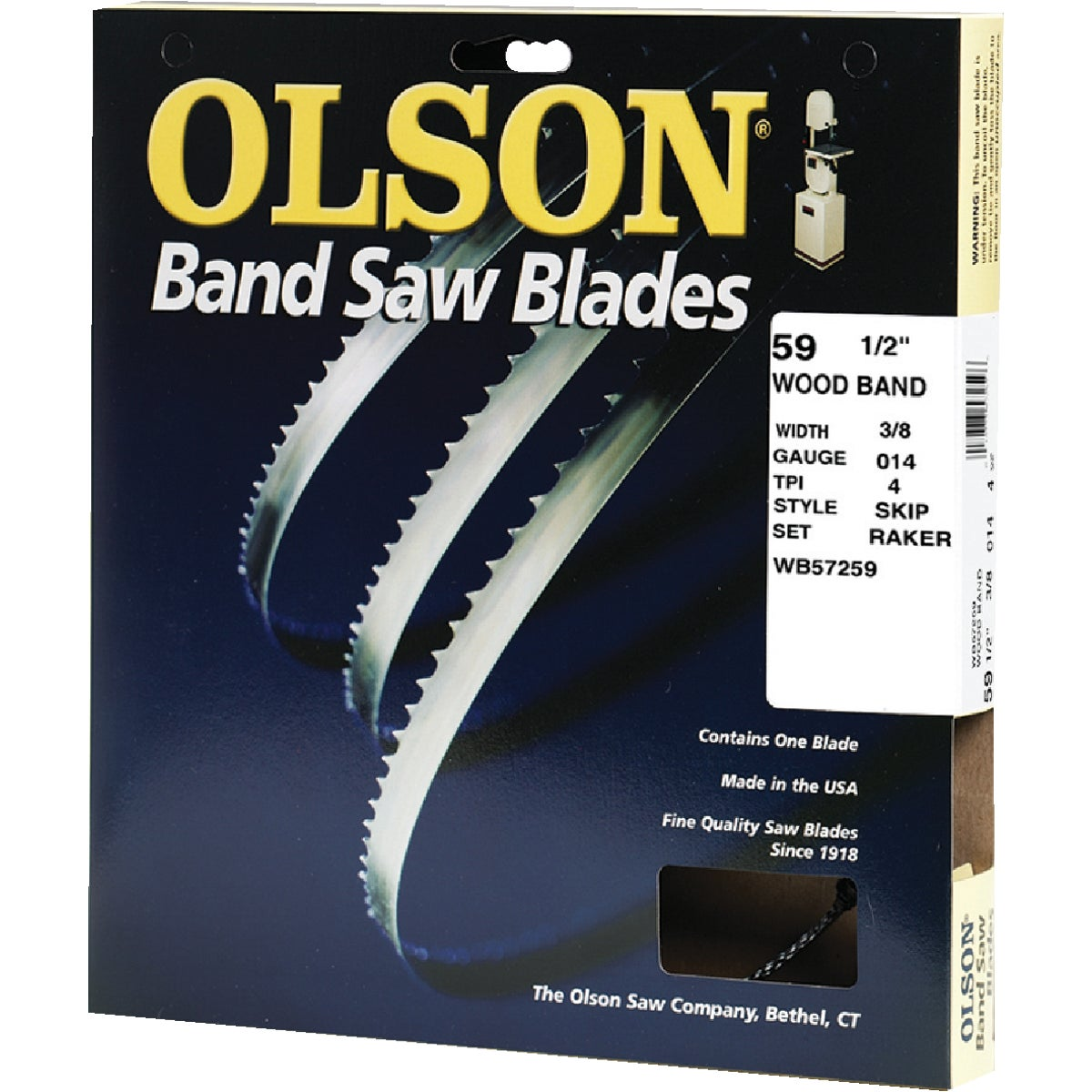 "59-1/2"" BANDSAW BLADE - 57259 by Olson Saw Co"