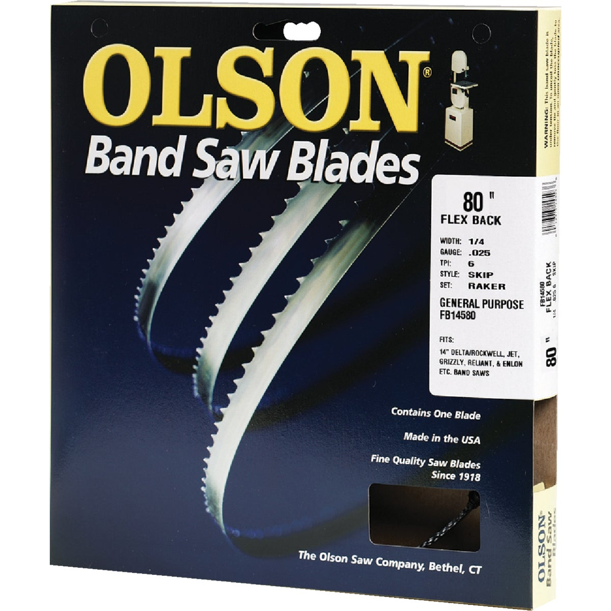 "80"" BANDSAW BLADE - 14580 by Olson Saw Co"