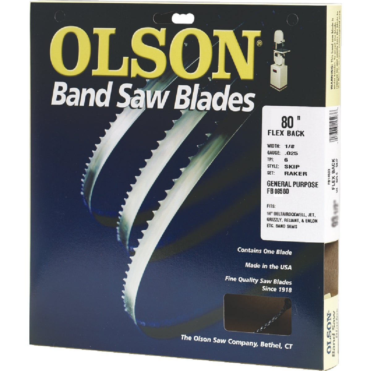 "80"" BANDSAW BLADE - 08580 by Olson Saw Co"